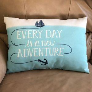 Other - Nautical Ocean Blue Throw Pillow